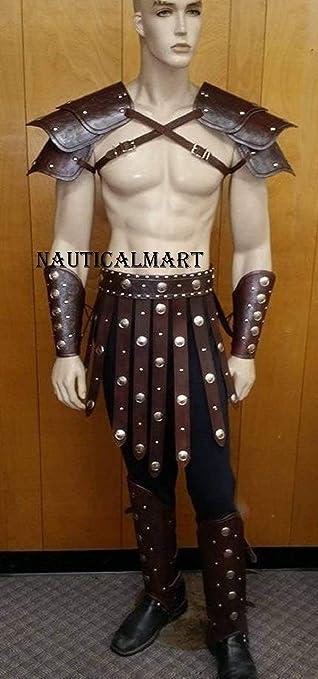 Amazon.com: Nauticalart, juego de gladiador de cuero con ...