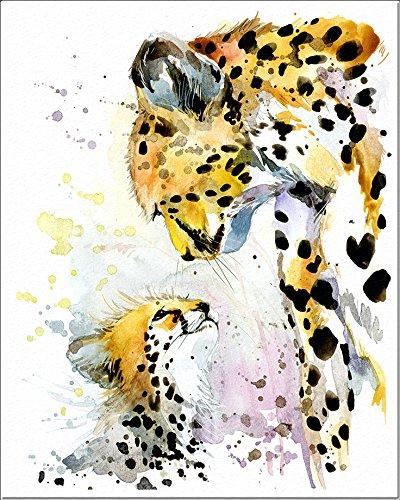 7Dots Art. Mom and Baby. Watercolor Art Print, Poster 8