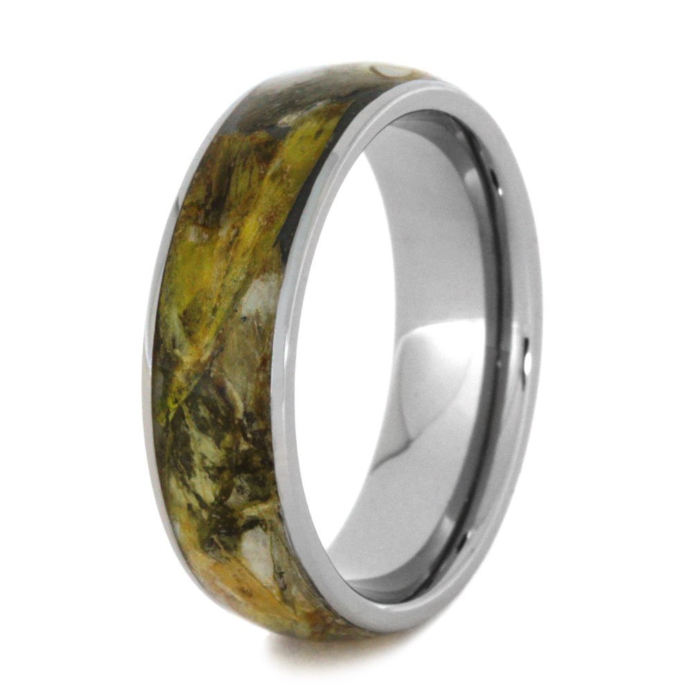 Flower Petal 6mm Comfort-Fit Titanium Band, Size 10.75 by The Men's Jewelry Store (Unisex Jewelry) (Image #4)