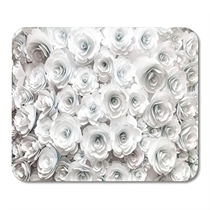 Amazon Com Emvency Mouse Pads Red White Rose Wall Flowers Craft