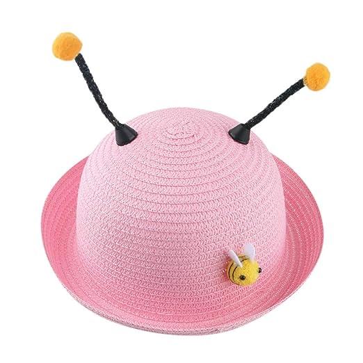 Baby Hat Sun-Waymine Kids Cartoon Stereo Small Bee Sunscreen Beach Straw Hat 2019 New Hot