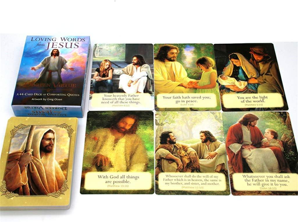 E-HONER Juego de Cartas del Tarot en ingl/és Familia Fiesta navide/ña Juego de Oracle Juego de Naipes Juego de Mesa