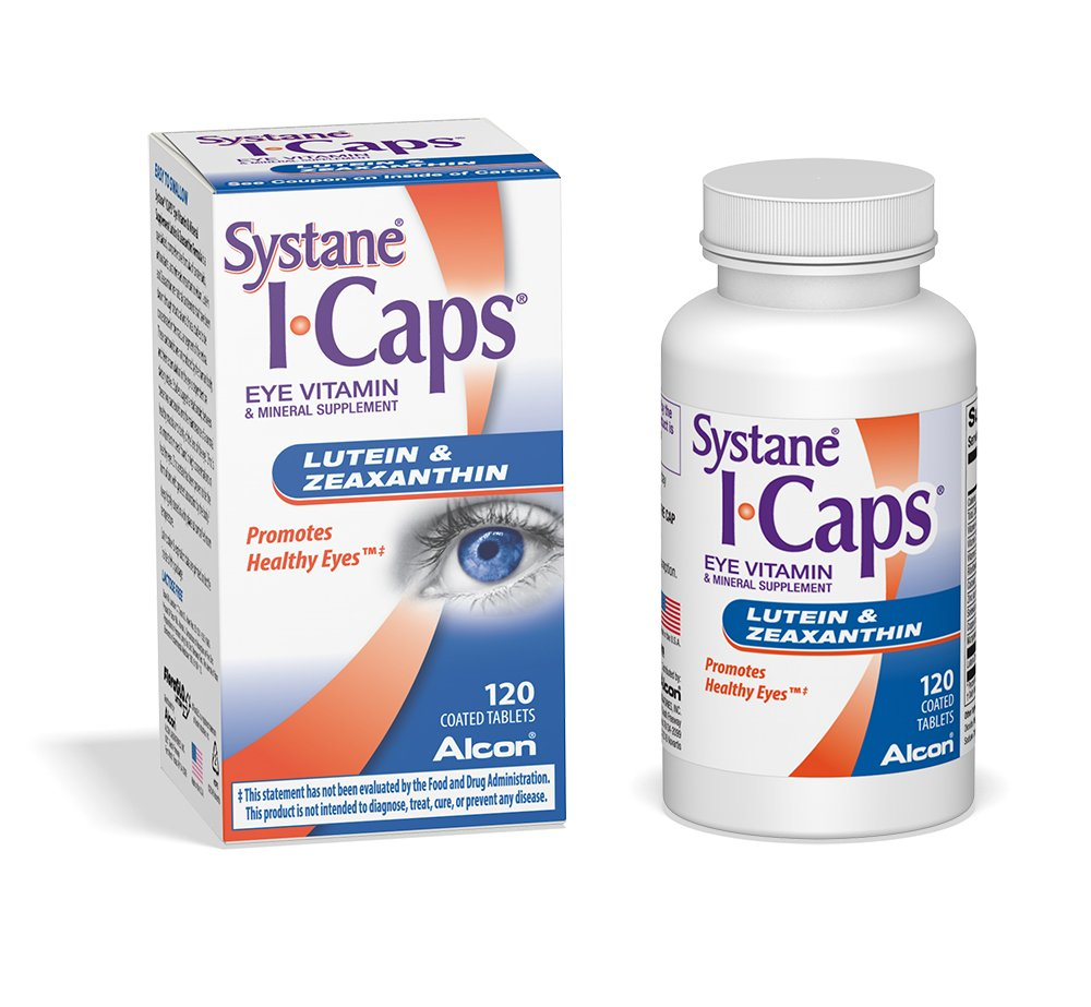 Systane ICaps  Eye Vitamin & Mineral Supplement, Lutein & Zeaxanthin Formula, 120 Coated Tablets by Systane