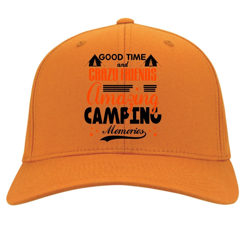 Good Time And Crazy Friends Knit Cap Amazing Camping Memories Hat
