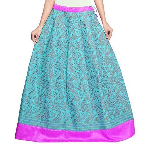 Indian Cotton Handicrfats Admyrin Skirt Export Blue Women wBqZpwS