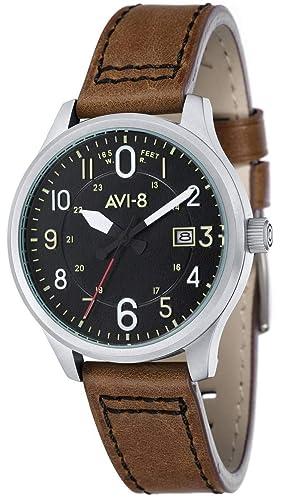 AVI-8 Homme Uhr Analogique Quartz mit Silicone Armband AV-4053-0B: Amazon.es: Relojes