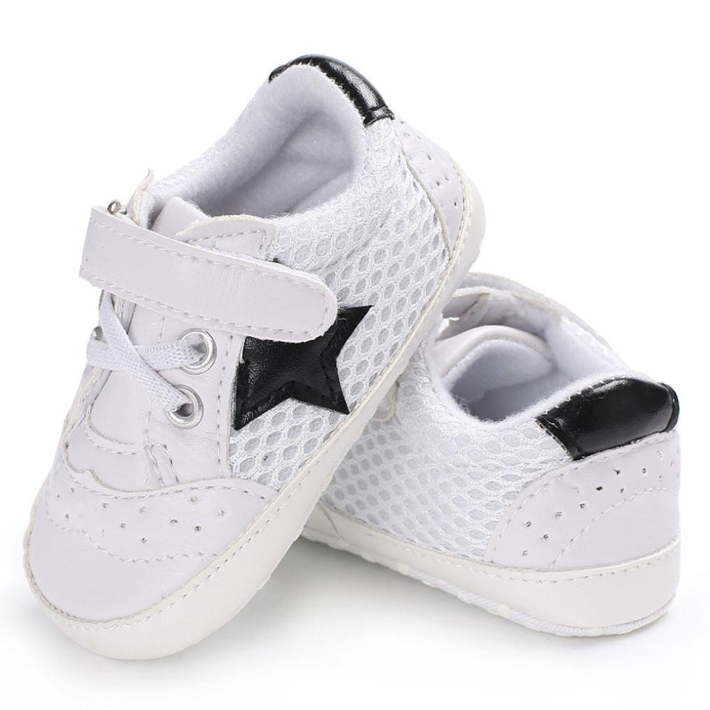 WeiYun Stars Baby Walkers Baby Shoes Sneakers Princess Soft Sole Shoes Toddler Casual Shoes 6Months, Pink