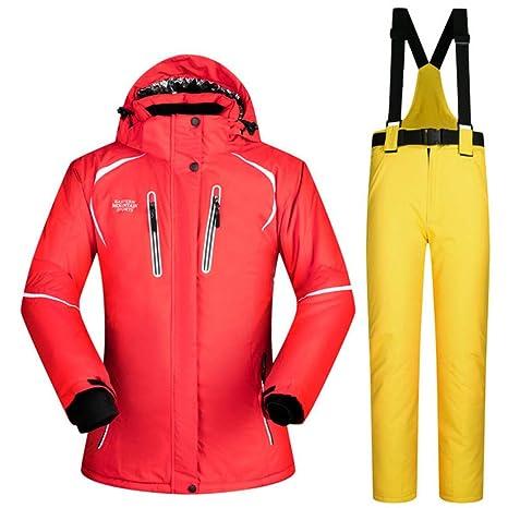 Zjsjacket Traje de Esqui Clima frío Traje de Nieve para Mujer ...