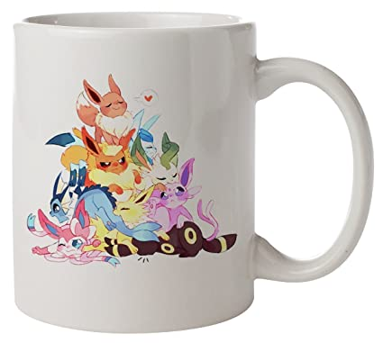 cea4ac64 Cute Eevee Pile. Pokemon Mug: Amazon.co.uk: Kitchen & Home