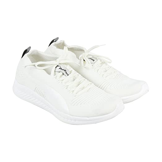 Puma Ignite Proknit Mens White Textile Athletic Lace Up Running Shoes 7