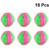 POPETPOP 18 Pack Washing Ball Lint Remover Balls Laundry Wash Balls Magic Hair Removal Plastic Reusable Laundry Ball to…
