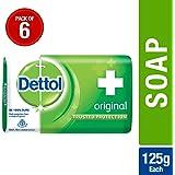 Dettol Original Soap, 125g (Pack Of 6)