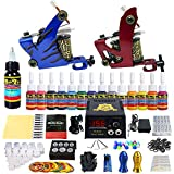 Solong Tattoo Complete Tattoo Kit 2 Pro Machine Guns 14 Inks Power Supply Foot Pedal Needles Grips...