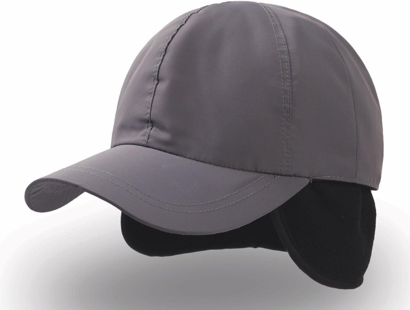 Napapi - Gorra de béisbol impermeable, con orejeras, forrada, gris ...