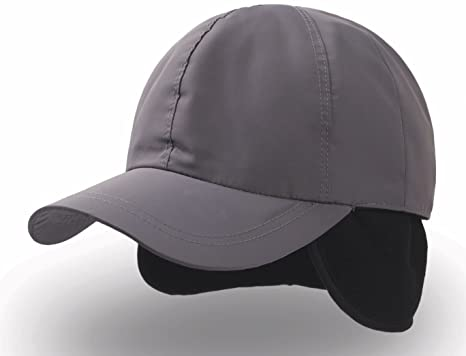 NAPAPI Berretto impermeabile Para Orecchie Foderato Baseball Cap Cappello  (Grigio) 85ce5b021bda