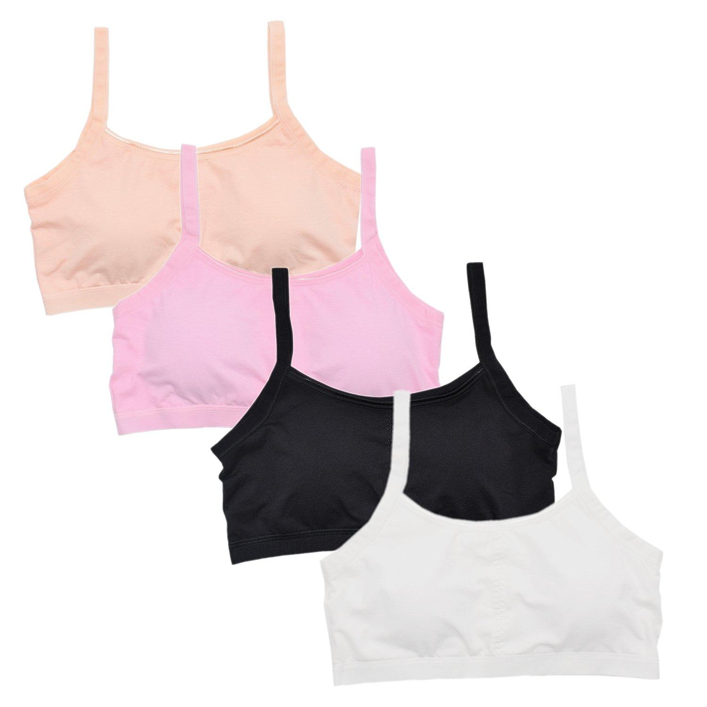 Vearin Big Girls' Cotton Training Bra with Padding, Starter Bras for Girls