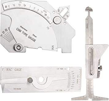 V-Wac Gage High Precision Stainless Steel Single Welding Gauge Welding Measuring Tool