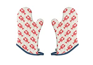 Now Designs Basic Oven Mitt, Set of Two, Lobster Catch