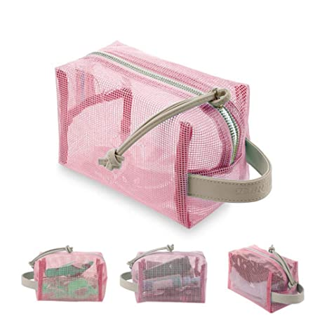Neceser de Viaje Maquillaje Damas y Hombre,Niña Bolso Transparente 2 Capas de Materiales Mujer Impermeables,Bolsas de Aseo Ideal para ...