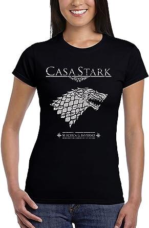 162-Camiseta Mujer Juego De Tronos - Casa Stark: Amazon.es: Ropa y accesorios