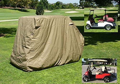 "Golf Cart Storage Cover for EZGo, Club car 4 Seater with 2 Seater Roof up to 58""L Taupe -  bondvast, golf 4 w/2 top"