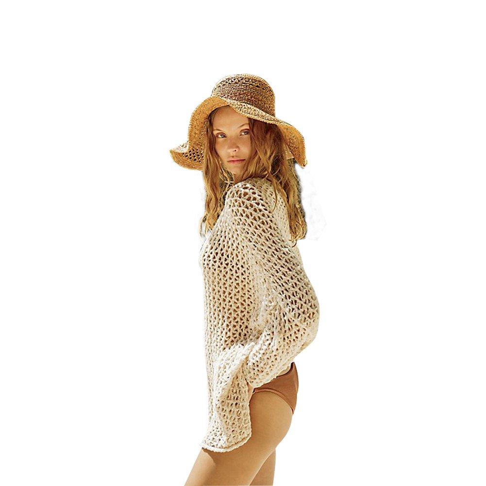 13f752d824a Top2: Belong U Women's Swimsuit Oversize Tunic Crochet Knit Beachwear  Bikini Cover up, Cream-colored, One Size. Wholesale Price:19.95 100%  Polyester Sexy ...
