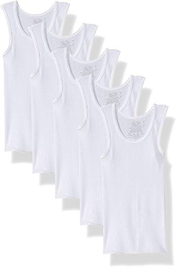 Fruit of the Loom Boys Cotton Tank Top Undershirt Multipack Pack of 6 Underwear