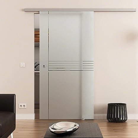 Dorint rayas de 1 puerta corredera de cristal templado de 8 mm 2175 X 775 mm Dorma Agile 50 – Herraje para mejillones Mango, Juego Completo para puerta y herraje: Amazon.es: Bricolaje y herramientas