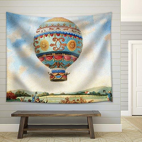 Illustration Hot Air Balloon Illustration Fabric Wall