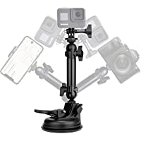 Action Camera Smartphone Suction Cup Race Car Cockpit Mount Motion Camcorder Vehicle Windshied Hood Rooftop Holder for…