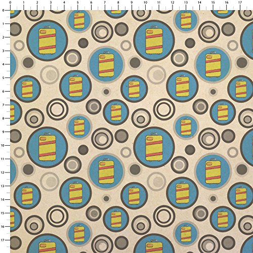 Suitcase Travel Bag Luggage Kraft Present Gift Wrap Wrapping Paper by Made on Terra (Image #1)