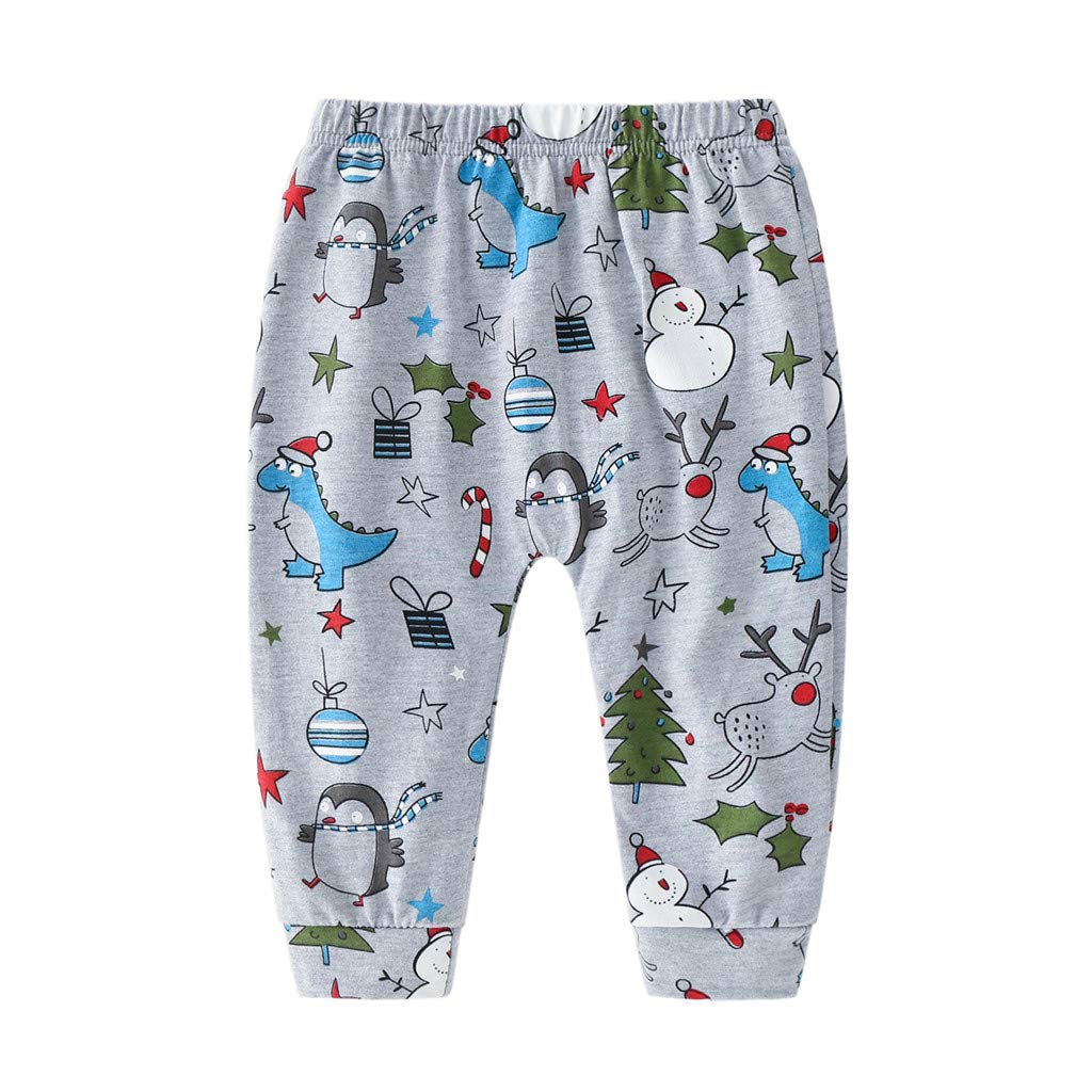 TM Jchen Baby Pajamas Sets Infant Boys Girls Long Sleeve Dinosaur Print Tops+Pants Sleepwear Outfits for 3-24 Months