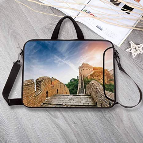7d60f7c0d128 Amazon.com: Great Wall of China Waterproof Neoprene Laptop Bag ...
