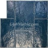 Stamped concrete. Slate Stone Stamp GlobMarble SM 3002/2 Blue. Ashlar Slate Concrete Stamp Mats