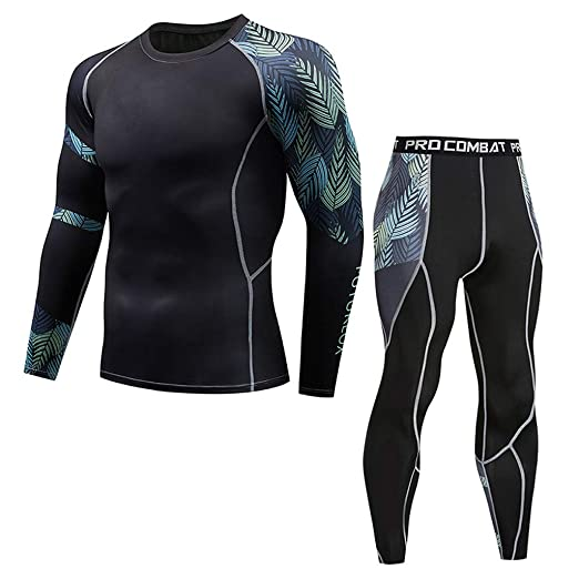 4ecabf9d69a6e Hotcl Athletic Running Cycling Suit Men's Compression Pants Base Layer Dry  Tights Leggings Compression Sport T