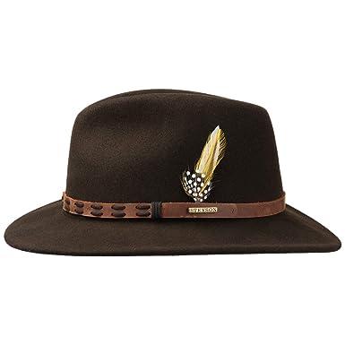 33c22a44b54 Stetson Leather Trim VitaFelt Hat Felt Wool  Amazon.co.uk  Clothing