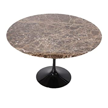 Tavolidesign Cm 160 Table Tulip Eero Saarinen Ronde Marbre Noir