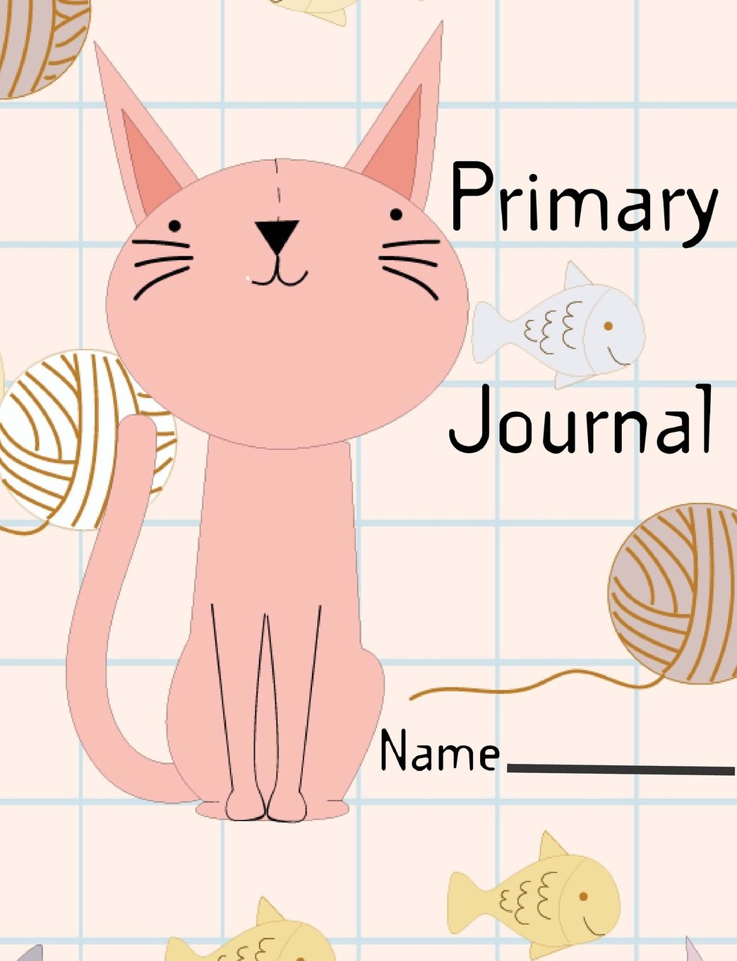 "Primary Journal: Primary notebook with cute funny cat pattern, Writing practice with position letters by using the red baseline, Solid top and bottom ... 7.44"" x 9.69"" , Penmanship Paper 110 pages ebook"