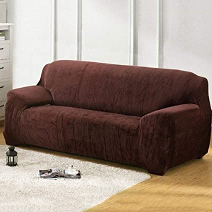 Amazoncom Haihuic Stretch Plush Sofa Cover Couch Cover 2 Seater