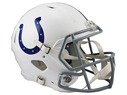3a350c01 Riddell NFL Indianapolis Colts Full Size Replica Speed Helmet, Medium, Blue