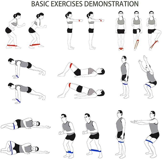 LGLZM Bandas de Fitness elásticas Personalizadas Sport Yoga ...