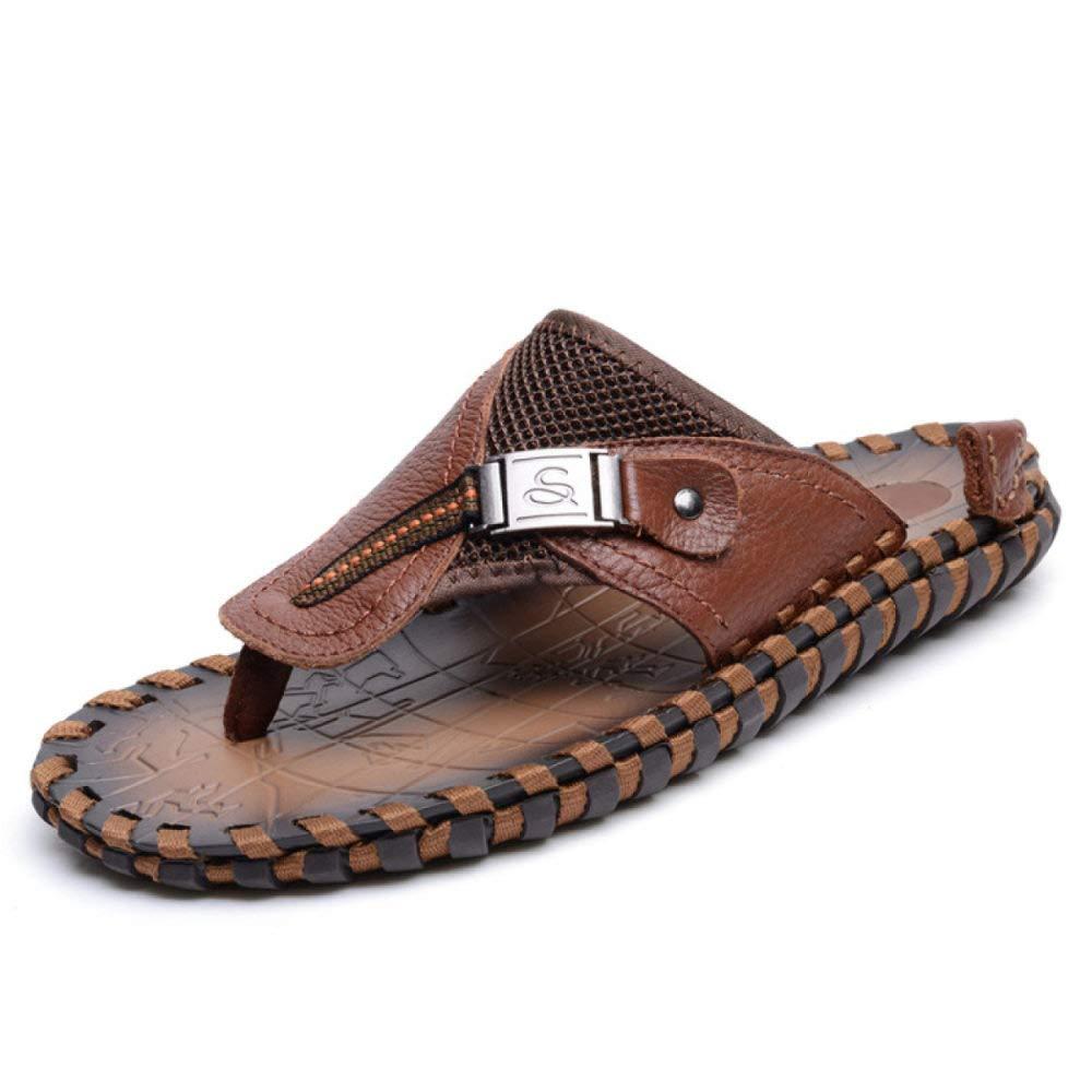 LYZGF Männer Jugend Sommer Mode Sandalen Fischgräten Hausschuhe Casual Atmungs Sandalen Mode Braun c553ed