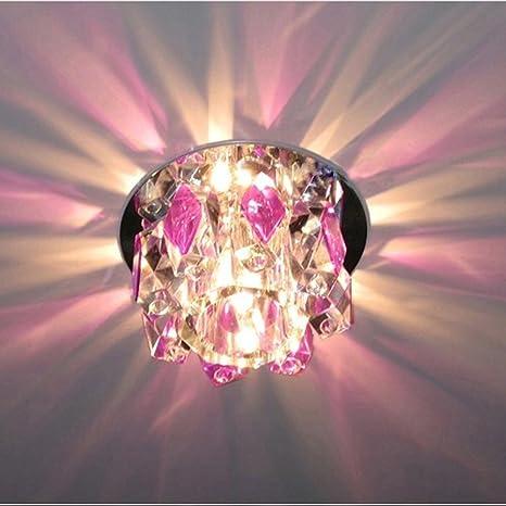 Nuevo Goolight con cristales de color morado lámpara de ...