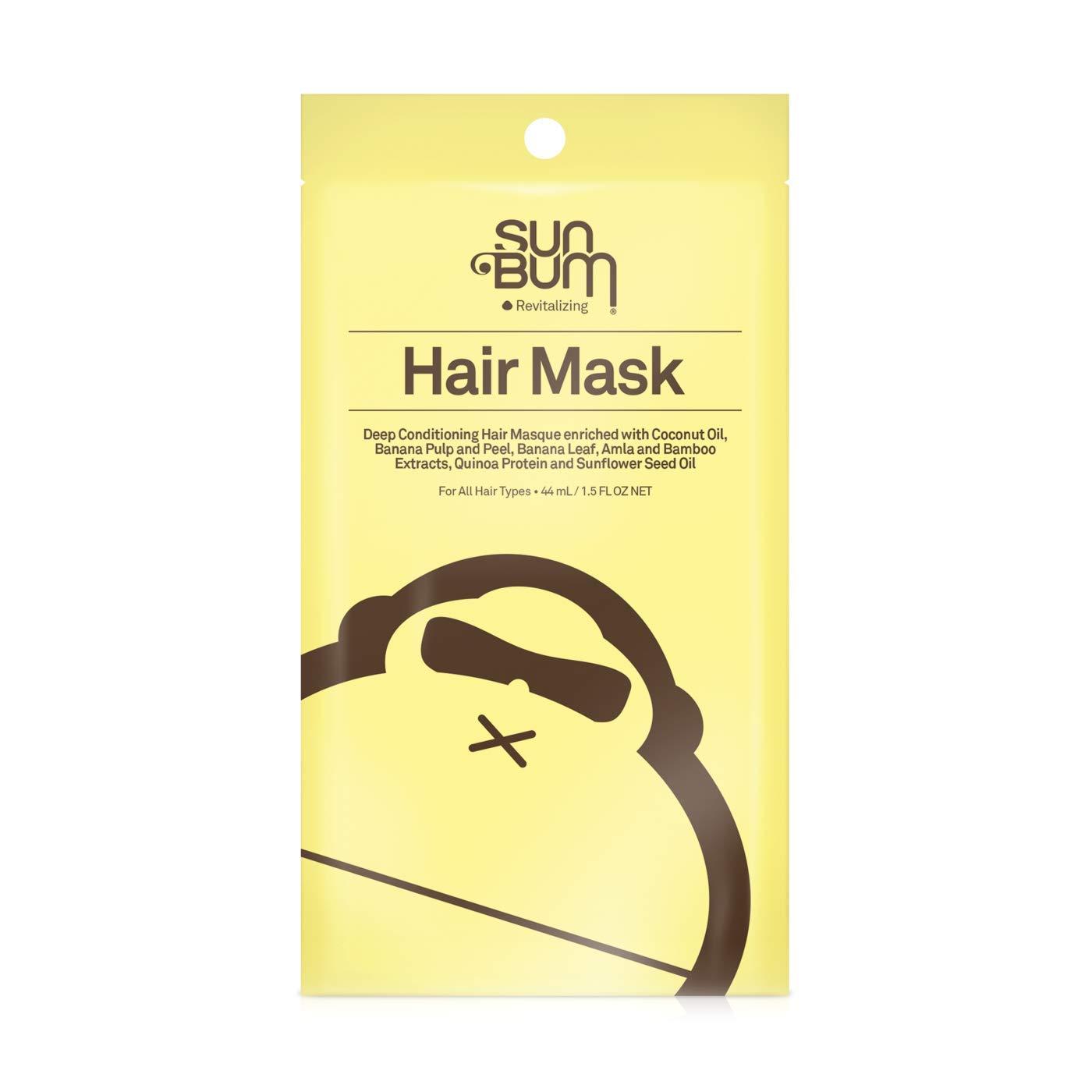 Sun Bum Revitalizing Deep Conditioning Hair Mask | Hydrating Deep Conditioning Mask for Damaged Hair | Frizz Control | Paraben Free, Gluten Free, Vegan | 1.5oz (5 Pack)