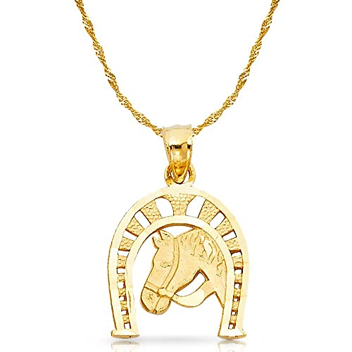 horseshoe necklace Good Luck horse hoof Clavicle Chains Statement lucky jewelry