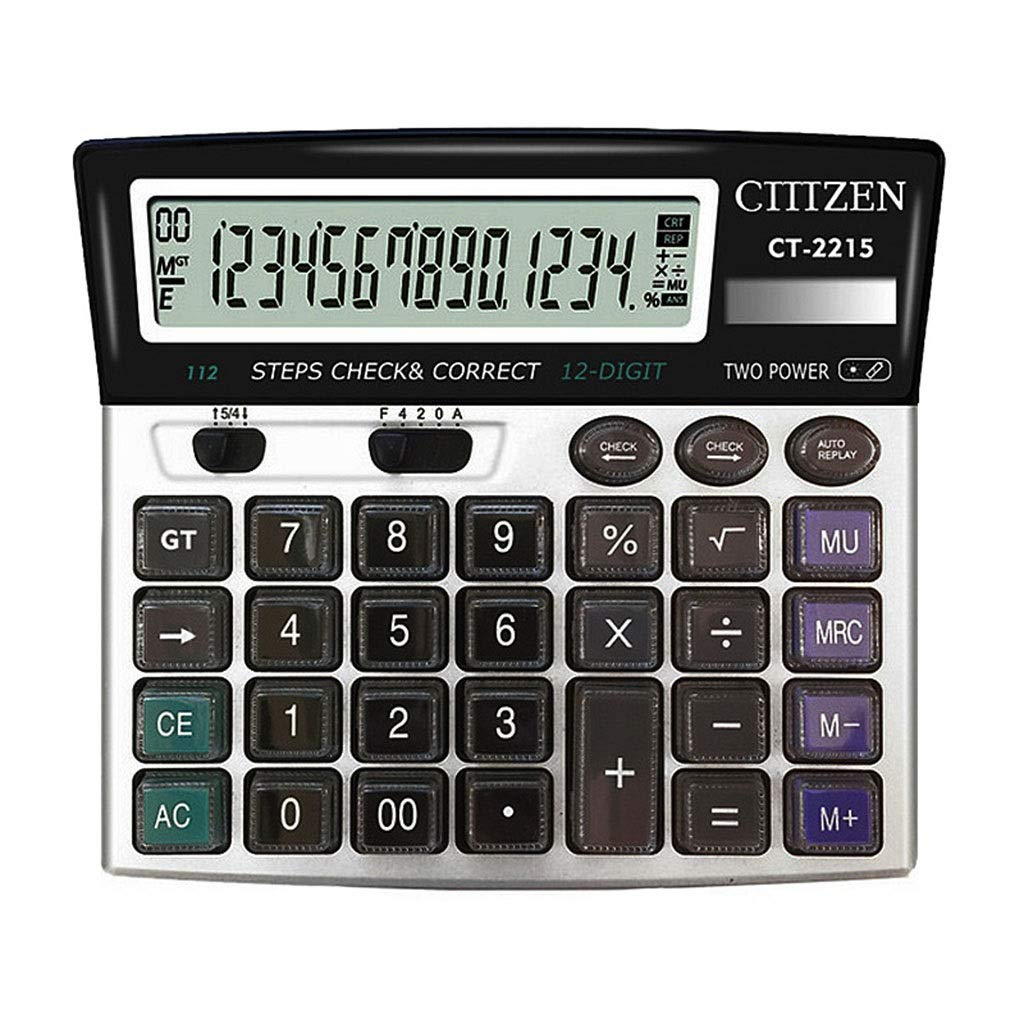 Calculator Accounting Extra Large Display Big Button Desktop Calculator Electronic Desktop Calculator Office Calculator Vineyard (Color : 2A) by Vineyard