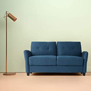 Zinus Ricardo Contemporary Upholstered 62.2 Inch Sofa Couch / Loveseat, Lyon Blue