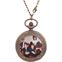 24x7 eMall Antique Metal One Direction Pendant Pocket Watch for Boys (4.5 cm Diameter)
