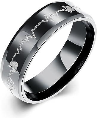 les fian/çailles et les mariages Bague d/'amour pour la vie avec design de vis Cadeau id/éal pour la Saint-Valentin