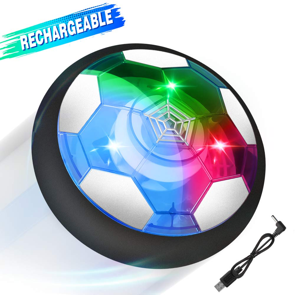Growsly Hover Soccer Ball for Kids Rechargeable Air Soccer Toys for Boy Girl Football Indoor Outdoor with LED Light and Foam Bumper by Growsly